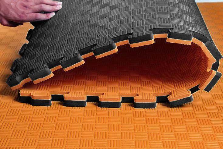 black orange eva mat